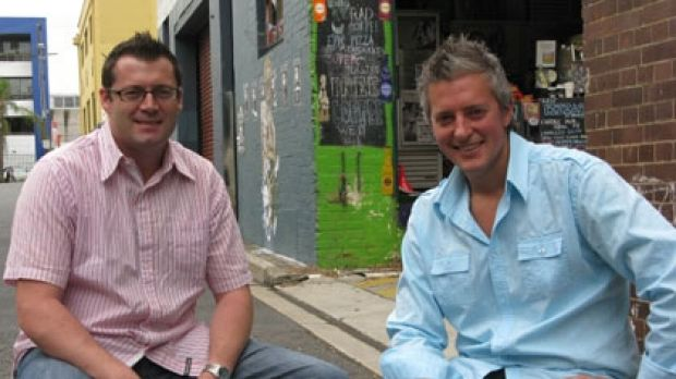 Matt Riley and Justin Wells want to see more laneway culture in Brisbane.