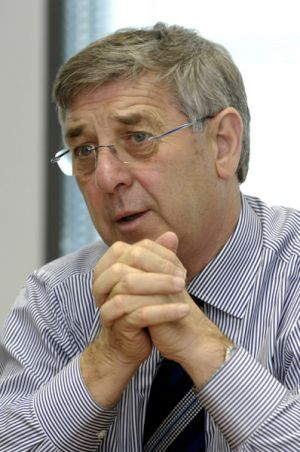 Gunns chairman John Gay ... construction at the Tamar Valley site will have begun before this time next year.