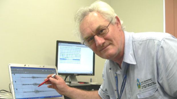 Central Queensland University seismologist Mike Turnbull.