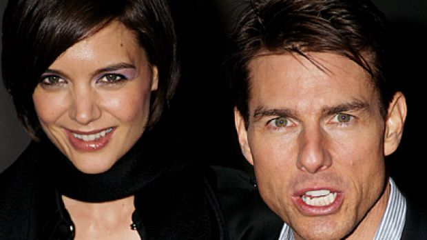 Friends in high places ... Tom Cruise and Katie Holmes will enjoy James Packer's hospitality from the 39th floor of ...