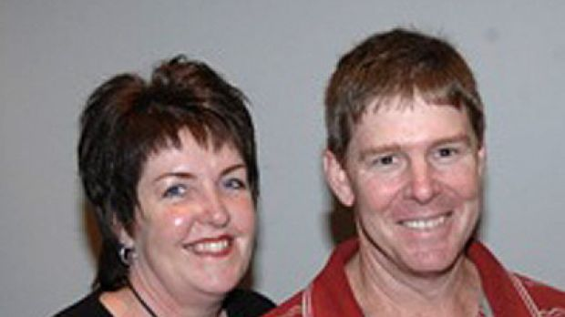 Danny Bower and his wife Cassie in April 2008.