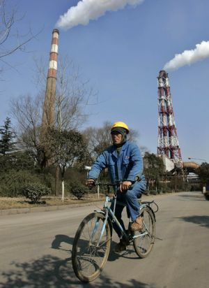 China shifts on emissions.