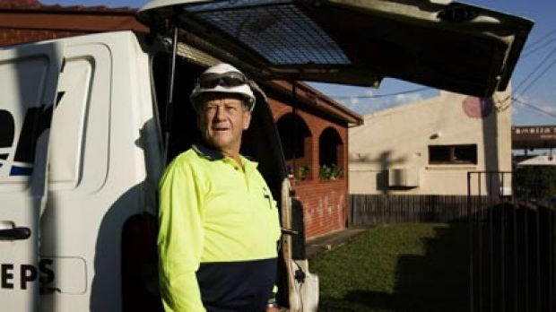 """""""I'm jack of it """"...sewer repairer Richard Bishop wants to retire but the later eligibility for the age pension will ..."""