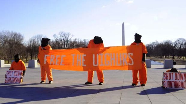 Protest ... the US will not send the Uighurs to China.