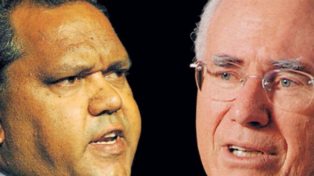 Unusual alliance: Noel Pearson and John Howard.