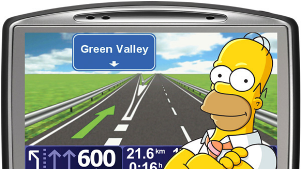 Homer Simpson is the latest celebrity voice skin offered up for TomTom GPS devices.