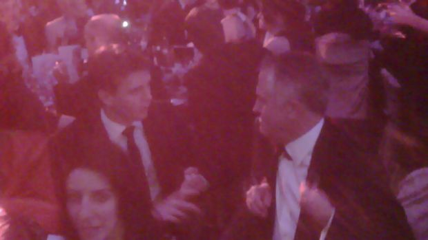 Andrew Charlton (left) and Malcolm Turnbull captured in a conversation on the Prime Minister's Blackberry at the 2009 ...