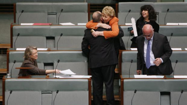"""God forgive me that I was part of that parliament that did that""...Julia Irwin congratulates Russell Broadbent after ..."