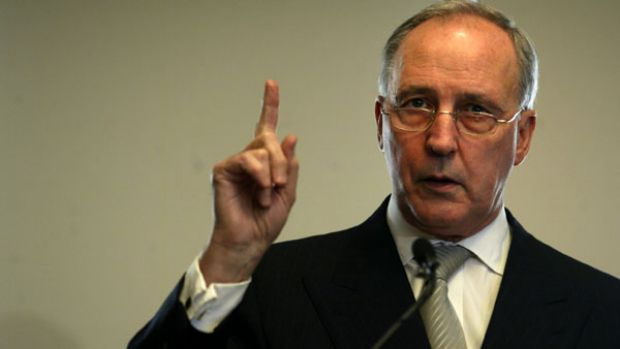 Enraged ... Paul Keating.
