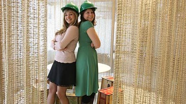 Think green ...    Amanda McKenzie and Anna Rose, Australian Youth Climate Coalition organisers, at their offices in Sydney.
