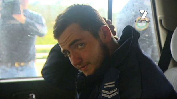 Jamie Neale arriving at Katoomba Hospital after being rescued from his 12-day ordeal lost in the Blue Mountains.