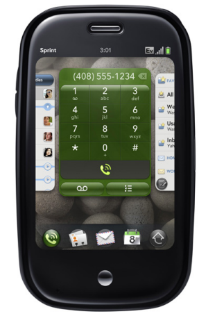 The Palm Pre mobile phone.