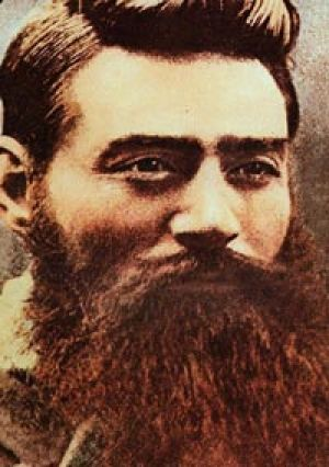 Outlaw ... the papers present Ned Kelly from a police perspective.