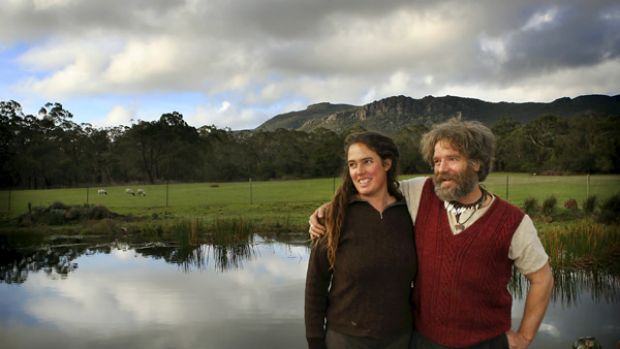 John and Suzy Muir on their mostly self sufficient property.