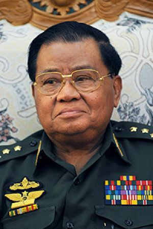 Ringing alarm bells ... the junta's leader, General Than Shwe.