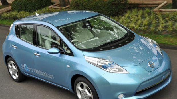 Nissan's Leaf plug-in electric car.