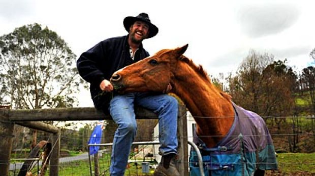 Anthony Sexton reunited with Jeune Mark, back on his newly re-fenced property.