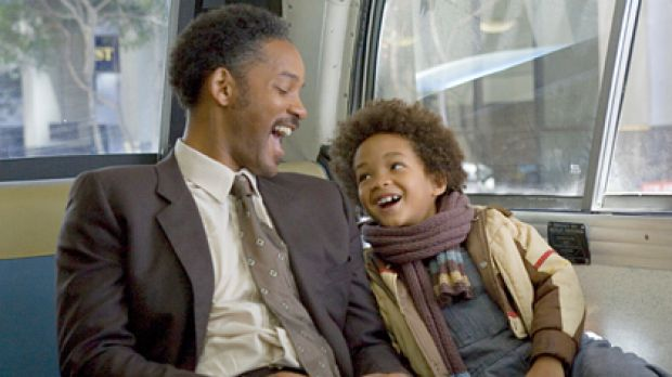 Involved father ... Will Smith and son Jayden Smith in The Pursuit of Happyness.