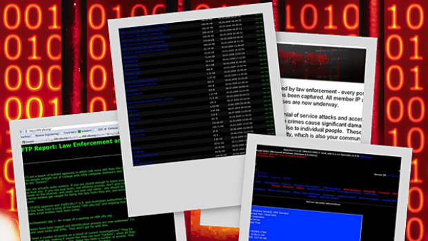 Some of the material posted by the hacker who broke into the police computer.