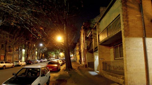 Death row . . . a quiet evening on Dowling Street, Woolloomooloo, where Isaac Dinsdale was murdered by a gang of men and ...