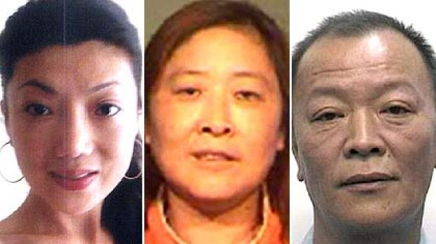 (Clockwise from top left): Wei Chen, whose body was found floating in a Sydney creek last week, the woman and man police ...