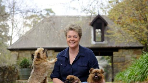 We're not all bad...Lee Pieterse with her rare Griffon Bruxellois.