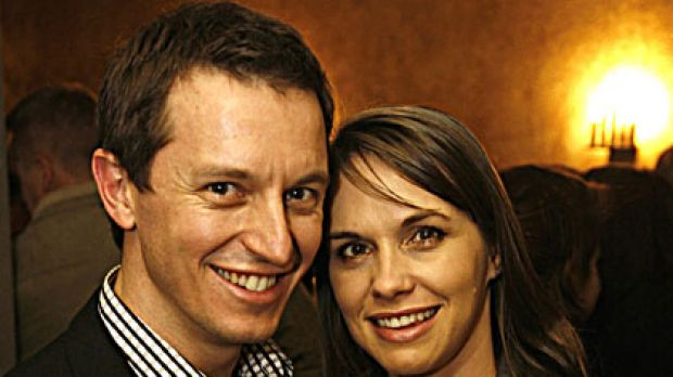 Newlyweds ... Rove McManus and Tasma Walton.
