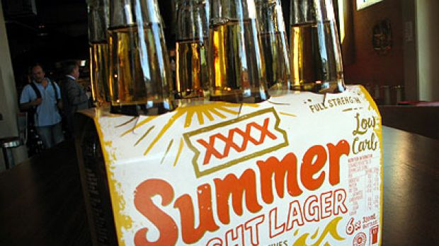 Summer time ... XXXX's new low-carb beer.