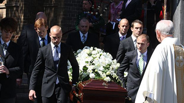 Michael McGurk's funeral at Sacred Heart Catholic Church in Mosman.