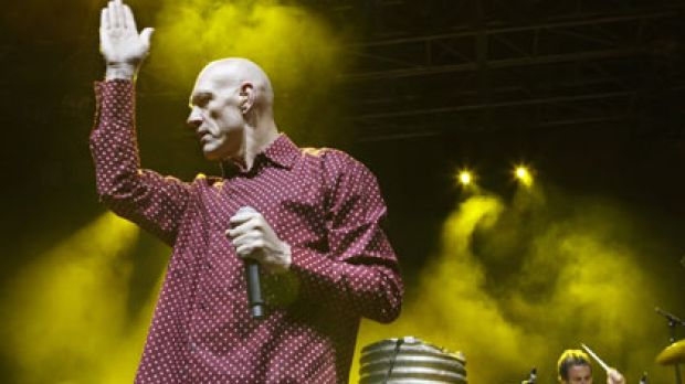 Peter Garrett in his rocking days.