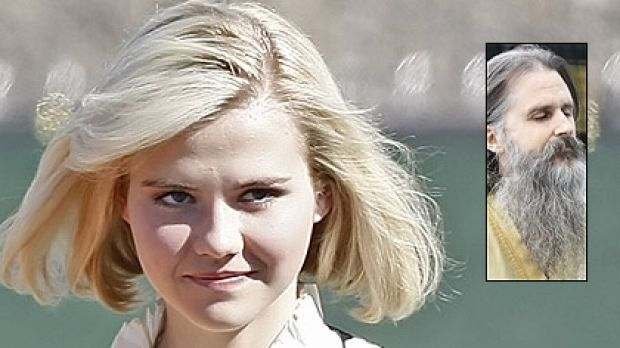 Telling her story ... Elizabeth Smart has given evidence at a hearing to determine if Brian Mitchell (inset) is ...