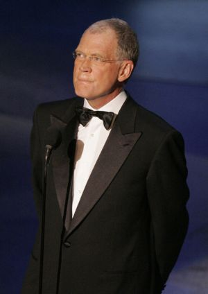 Late night talk show host David Letterman.