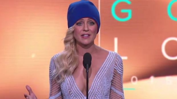 Gold Logie winner Carrie Bickmore uses her acceptance speech to raise awareness of brain cancer.