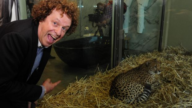 Entertainer Leo Sayer at the official opening of Jamala Wildlife Lodge in Canberra.