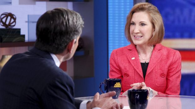 Fiorina announced she would contest the Republican nomination on <i>Good Morning America</i> on May 4.