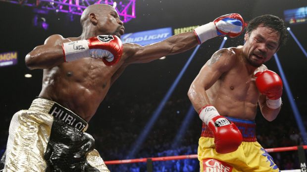 Floyd Mayweather junior, on his way to the welterweight title, lines up opponent Manny Pacquiao.