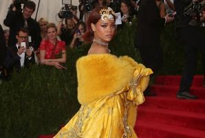 Rihanna at the Met Gala 2015, one of the looks which inspired a pair of the Stance socks.