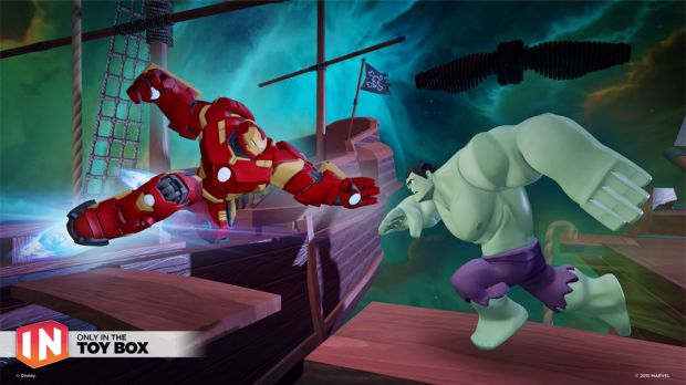 The game's Toy Box mode will allow mixing and matching figures and sets from different Disney franchises, including Marvel.