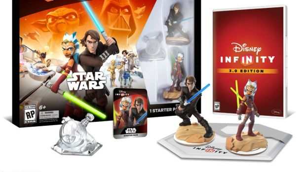 The starter pack for Disney Infinity 3.0 inludes figures from the <i>Star Wars: Clone Wars</i> show.