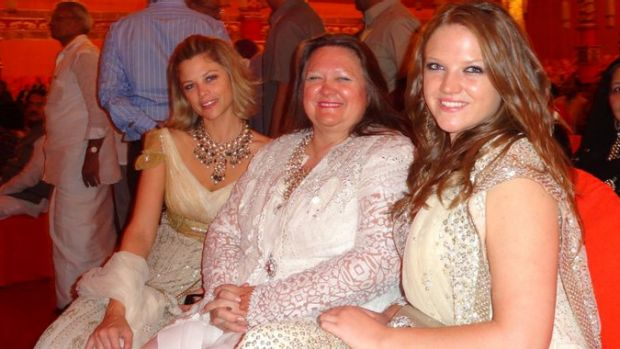 In happier times: Bianca, Gina Rinehart and Ginia Rinehart in 2012.