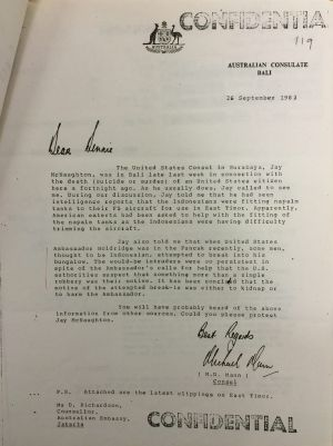 One of the previously classified letters unearthed by Dr Fernandes.