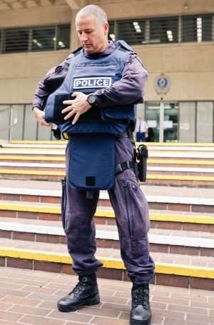 Bulletproof vests that were introduced for frontline NSW Police in 2012.