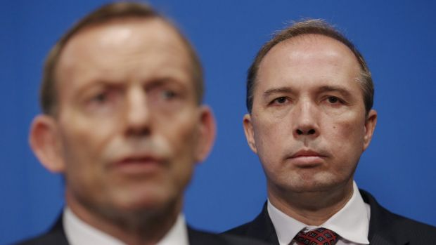Prime Minister Tony Abbott and Immigration Minister Peter Dutton, who will announce a new panel to provide advice on ...