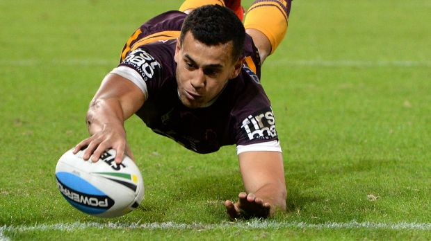 Back in the frame: Jordan Kahu of the Broncos.
