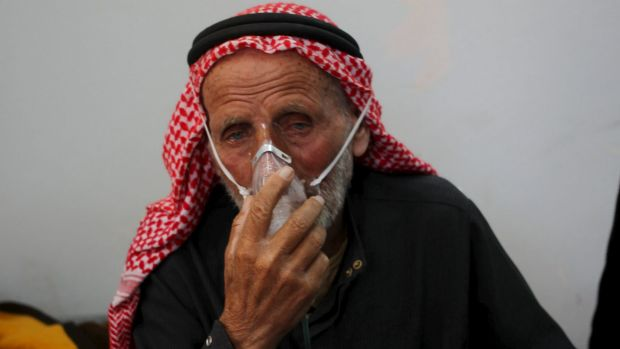 An attack with gas, chlorine gas according to activists, on Kansafra village in Idlib on Friday left some residents ...