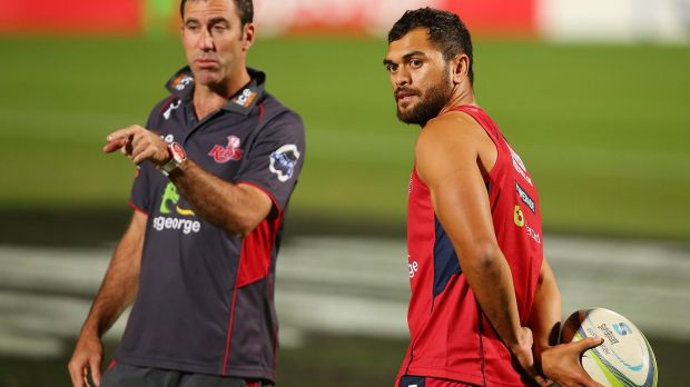 Keeping his mind open: Richard Graham, pictured with Karmichael Hunt.