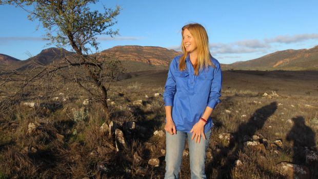 Supporter: Dr Katherine Moseby pictured at the Wilpena Pound in the Flinders ranges.
