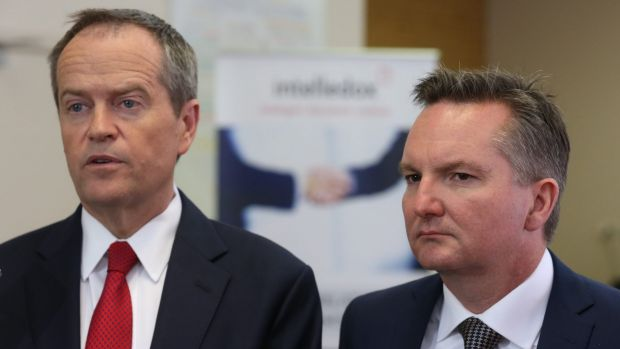 Opposition Leader Bill Shorten and the shadow treasurer Chris Bowen have taken the lead in the battle over the financial ...