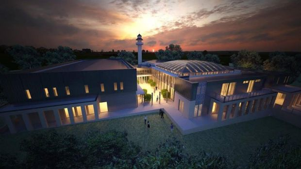 An artist's impression of the proposed mosque in Bendigo.