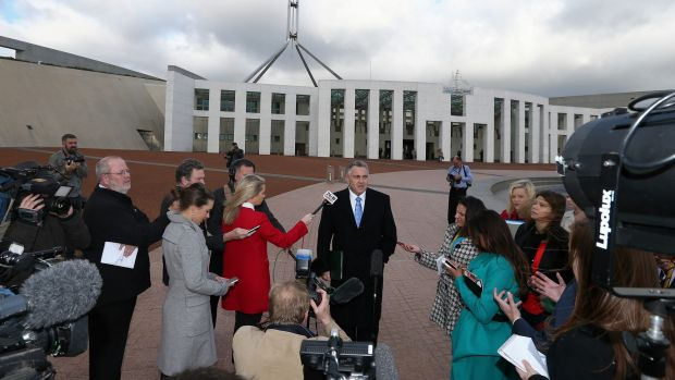 No further questions: Joe Hockey arrives at Parliament House on Tuesday morning.